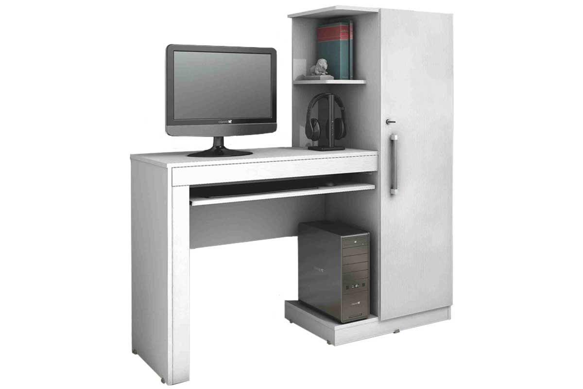 Escrivaninha Valdemóveis OfficeCor Branco Ártico/Branco Ártico