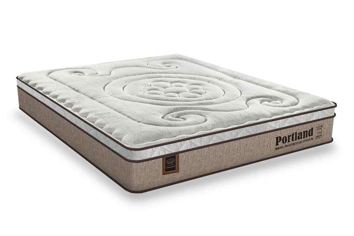 Colchão Sealy Molas Posturepedic PortlandColchão Queen Size - 1,58x1,98x0,30 - Sem Cama Box