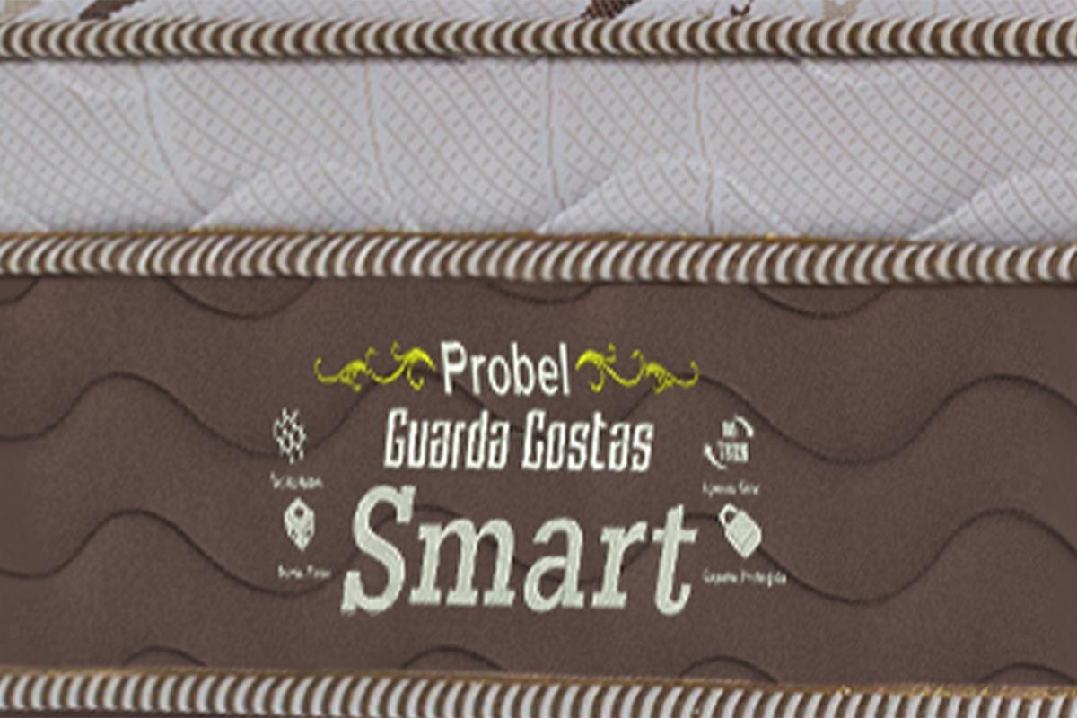 Colchão Probel Molas Multilastic Guarda Costas Smart - Colchão Queen Size - 1,58x1,98x0,26 - Sem Cama Box