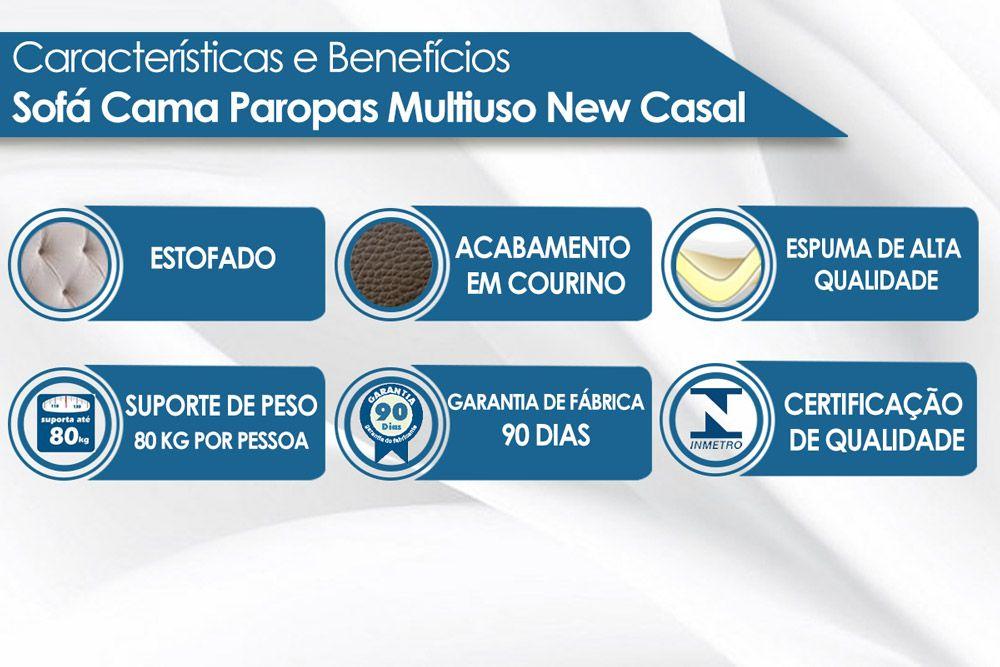 Sofá Cama Paropas Multiuso New Casal Extra