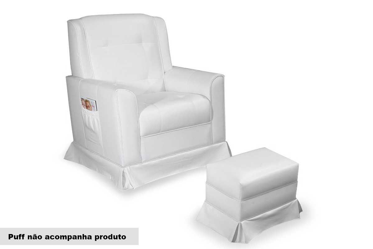 Poltrona Probel/Pelmex Elegance Baby BalançoCor Couríno Branco