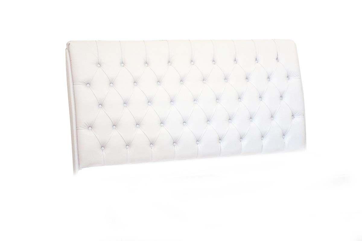 Cabeceira Cama Box MB Veranda Curva -  0,88 Solteiro  -  Cor Branco1,58 Queen Size  -  Cor Branco