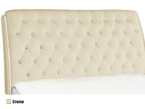 Cabeceira Box MB Veranda Color  0,88 Solteiro - Revestimento Branco c/ Botão Preto (Color)