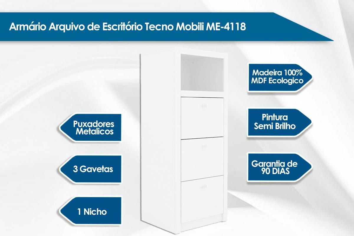 Armário Escritório Tecno Mobili ME-4118