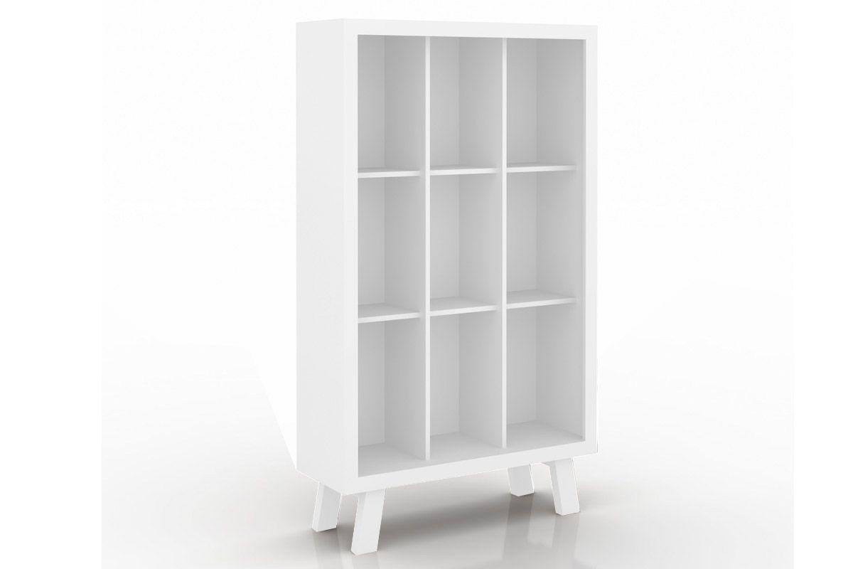 Estante/Livreiro Escritório Tecno Mobili ME-4121Cor Branco c/ Pés Branco