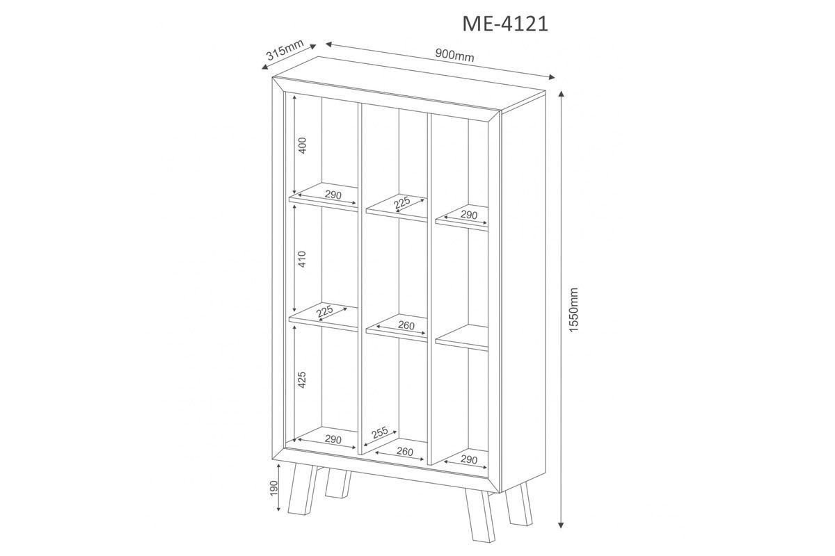 Estante/Livreiro Escritório Tecno Mobili ME-4121