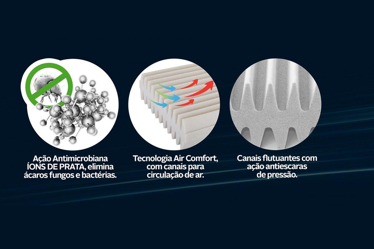 Travesseiro Fibrasca Smart Flutuante Espuma Open Cells c/ Íons de Prata