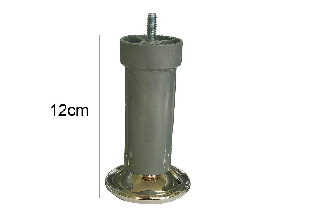 Kit Pés para Cama Box Solteiro Universal Rosqueável (6 pés)