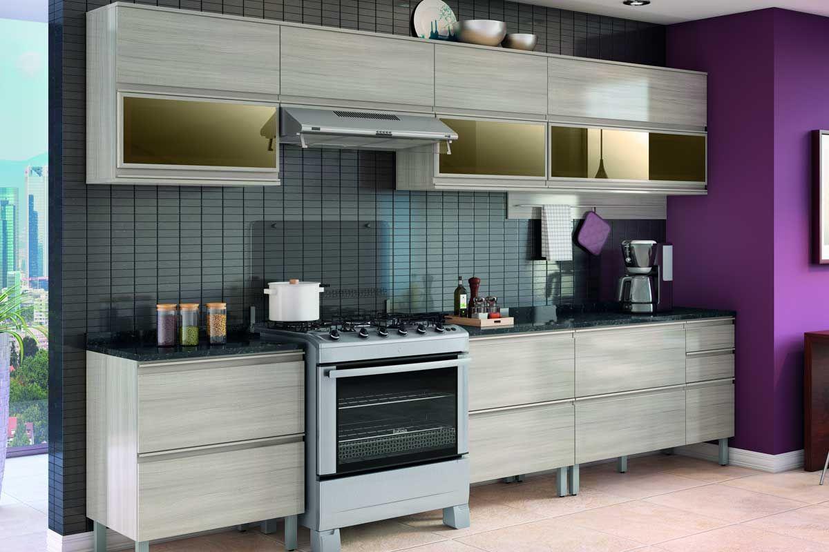 Armário de Cozinha Itatiaia Belíssima Plus IPH2-1V-70 Madeira Horizontal 2 Portas