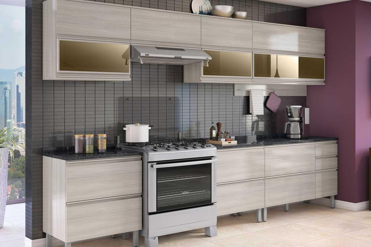 Armário de Cozinha Itatiaia Belíssima Plus IPH2-1V-120 Madeira Horizontal 2 Ptas