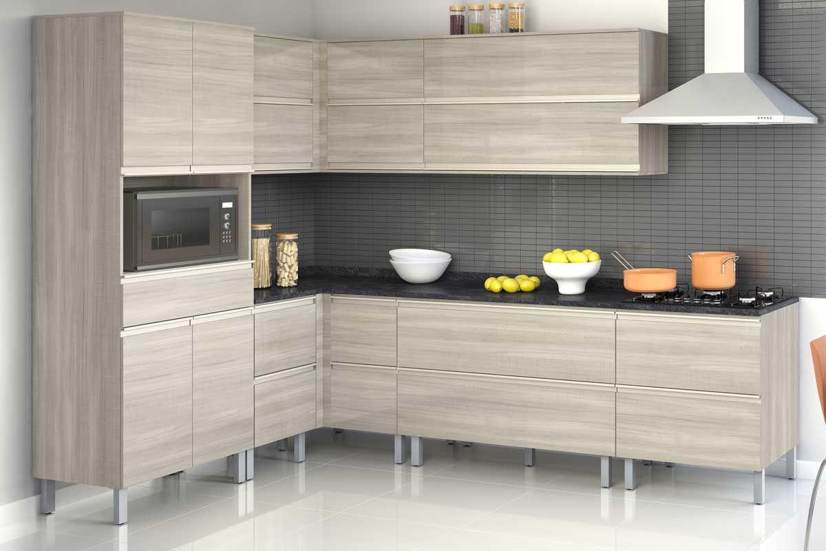 Gabinete Cooktop de Cozinha Itatiaia Belíssima Plus IGH2-80 COOK Madeira Horizontal 2 Ptas 4 ou 5 Bocas s/Tampo - Cor Branco Lacca