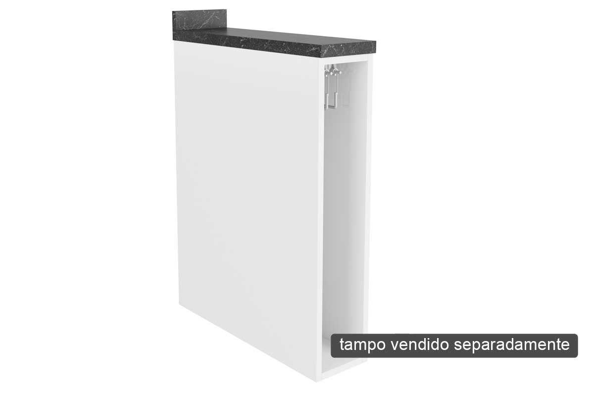 Nicho de Cozinha Itatiaia Belíssima Plus IGNV-15 Vertical c/ Toalheiro 15cm s/TampoCor Branco Lacca