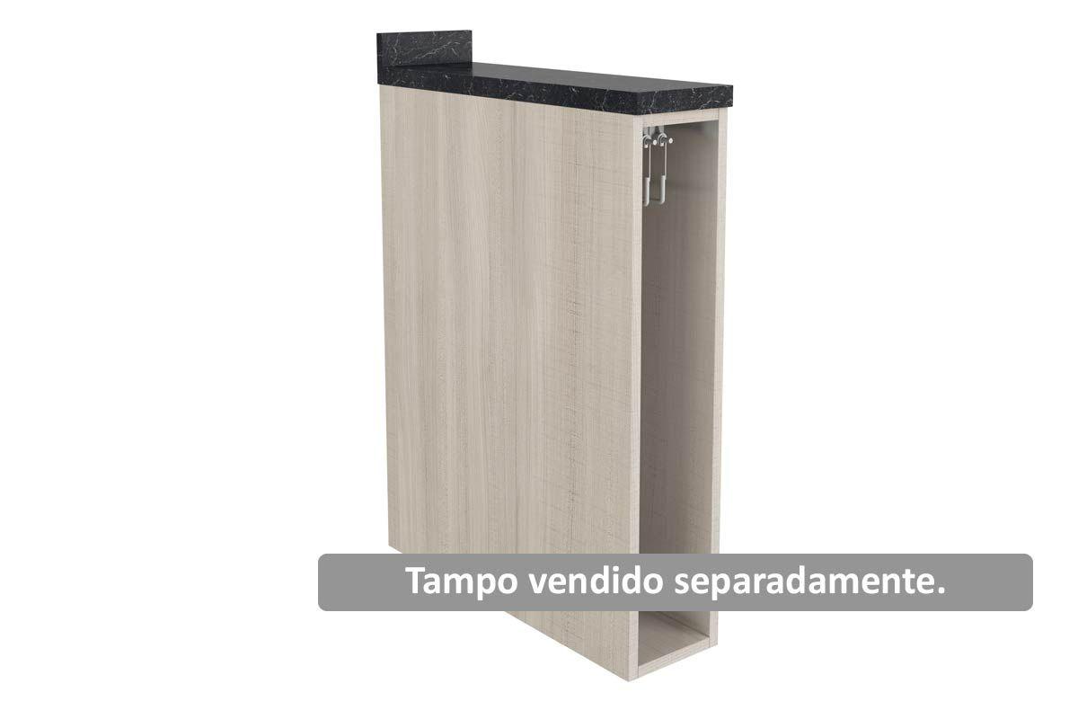Nicho de Cozinha Itatiaia Belíssima Plus IGNV-15 Vertical c/ Toalheiro 15cm s/TampoCor Saara Wood Lacca