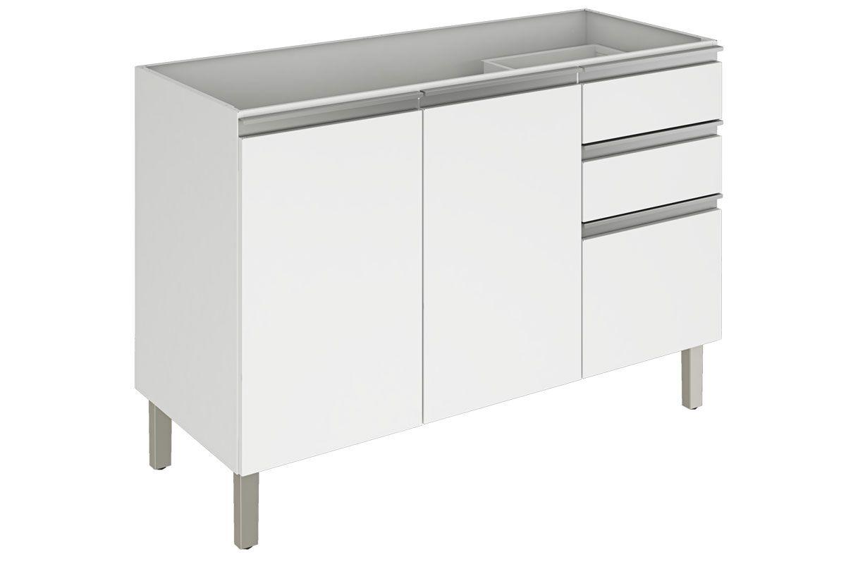 Gabinete de Cozinha Itatiaia Clarice IG3G3-120 2 Portas s/ TampoCor Branco