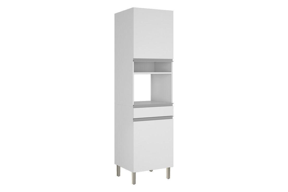 Paneleiro de Cozinha Itatiaia Clarice IPLPFNO-60 Aço Torre Quente 2 PortasCor Branco