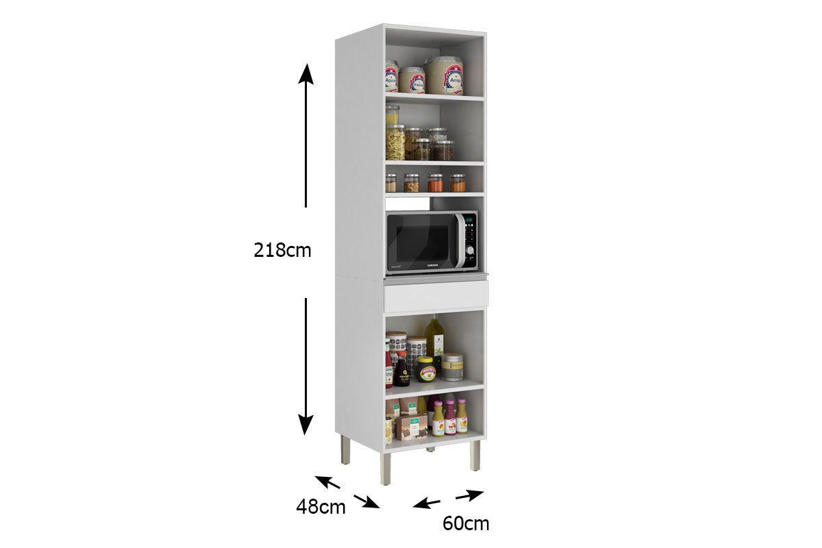 Paneleiro de Cozinha Itatiaia Clarice IPLPFNO-60 Aço Torre Quente 2 Portas
