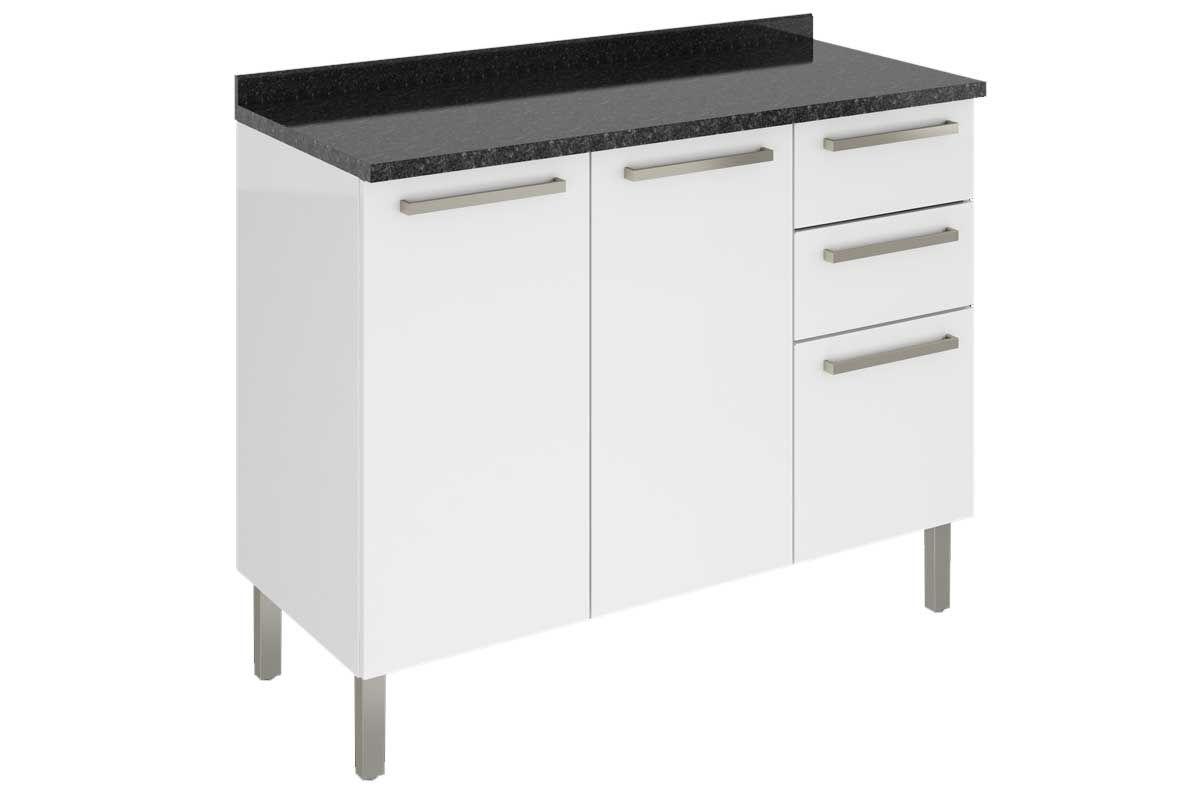 Gabinete de Cozinha Itatiaia Dandara IG3G2-120 3 PortasCor Branco
