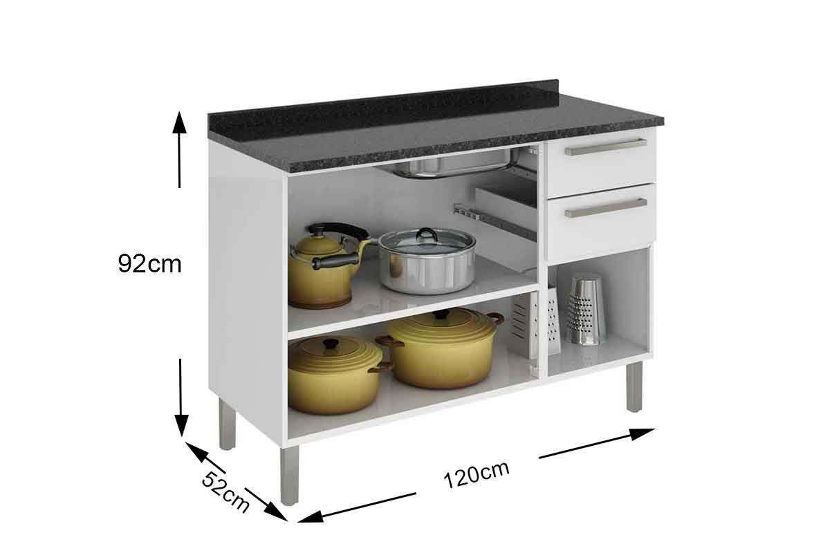Gabinete de Cozinha Itatiaia Dandara IG3G2-120 3 Portas
