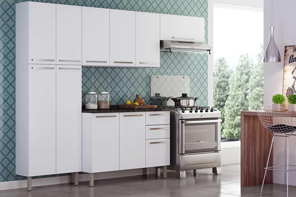 Paneleiro De Cozinha Itatiaia Dandara Ipld 70 A O Duplo 4 Portas At