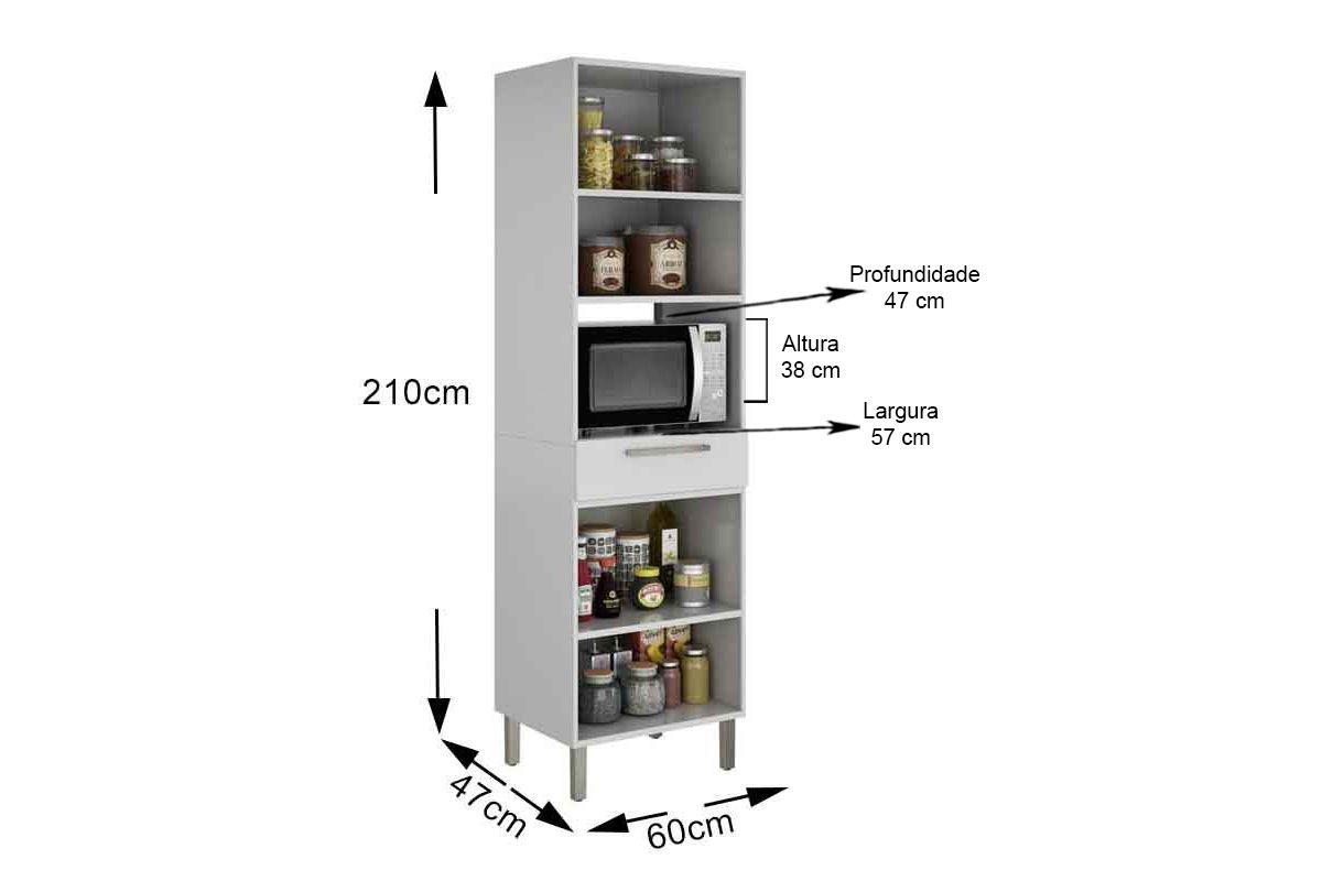 Paneleiro de Cozinha Itatiaia Dandara IPLPFNO-60 Aço Torre Quente 2 Portas