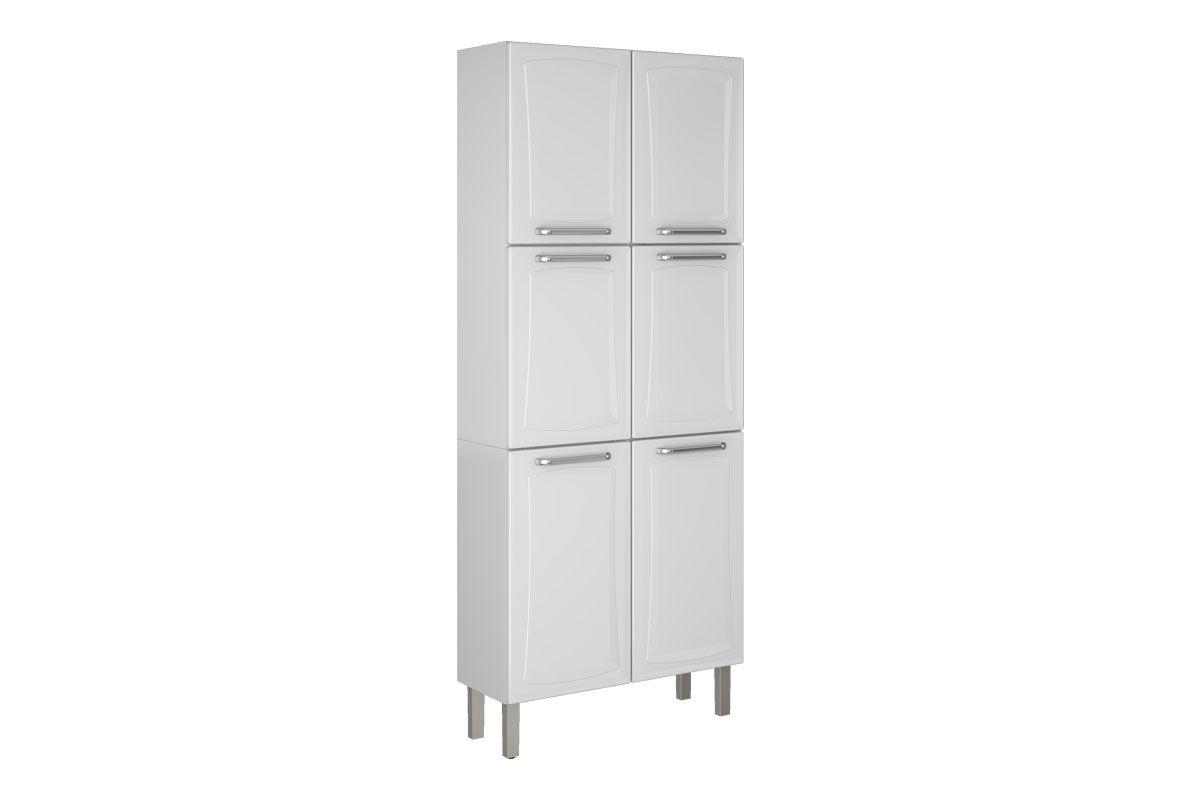 Paneleiro de Cozinha Itatiaia Tarsila IPLD-80 Aço Duplo 6 PortasCor Branco