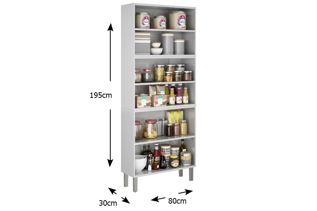 Paneleiro de Cozinha Itatiaia Tarsila IPLD-80 Aço Duplo 6 Portas