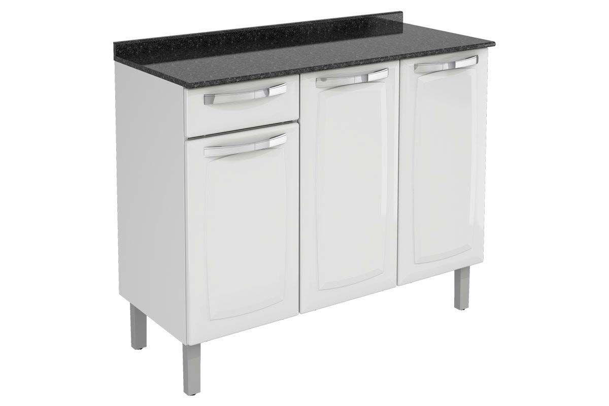 Gabinete de Cozinha Itatiaia Rose IG3G1-105 1 Gaveta c/TampoCor Branco