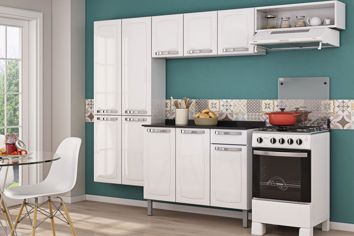 Gabinete de Cozinha Itatiaia Rose IG3G1-105 1 Gaveta c/Tampo
