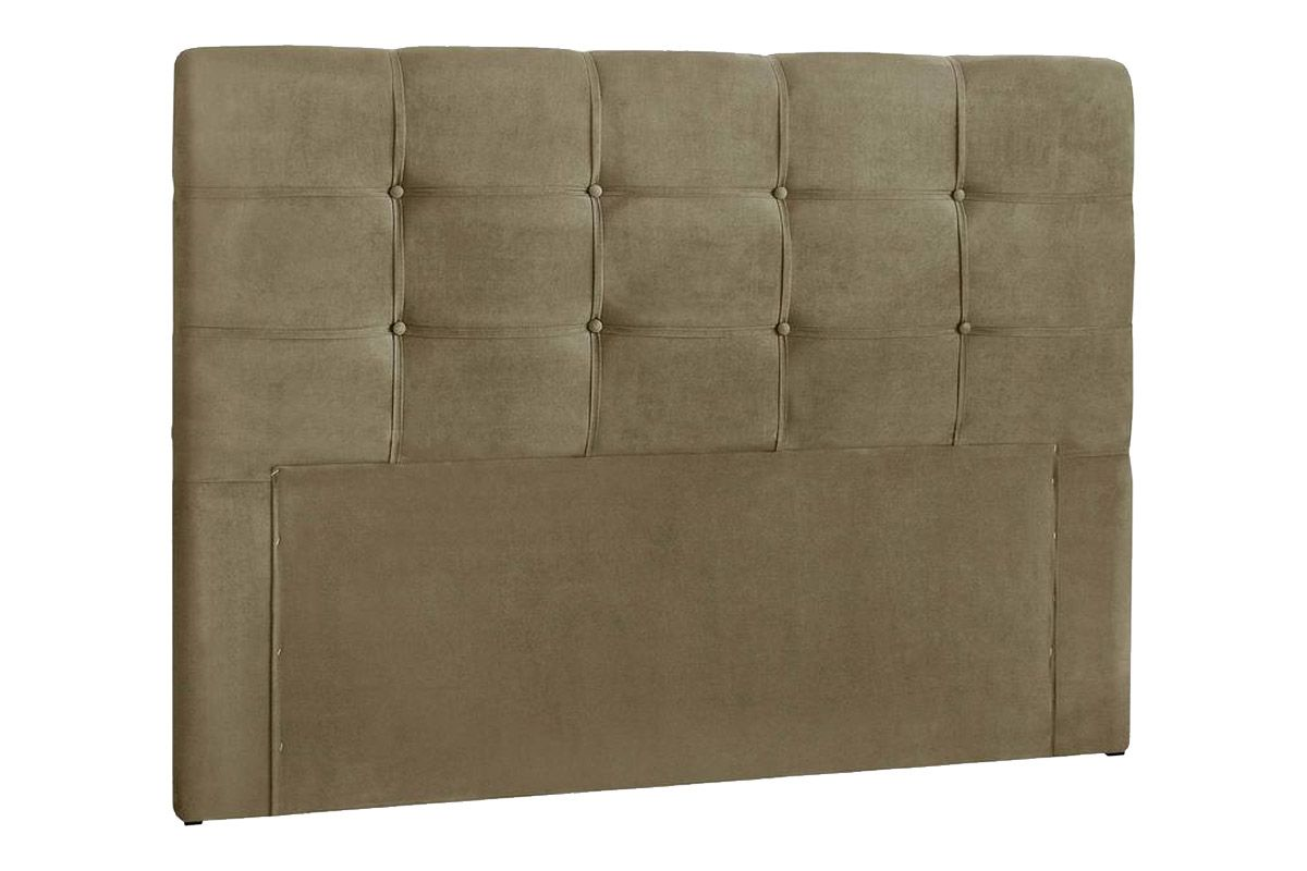 Cabeceira Cama Box Queen Simbal CleanQueen Size  -   Cor Nobuck Marrom Taupe
