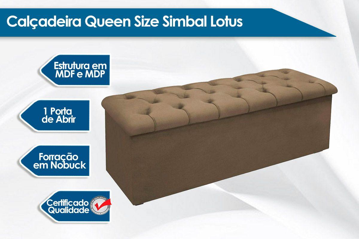 Calçadeira Queen Size Simbal Lotus
