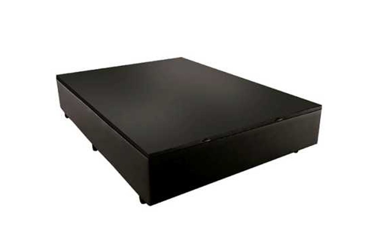 Cama Box Baú Sealy Courino Black