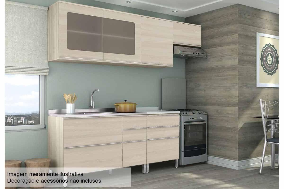 Cozinha Completa Kappesberg Versatti C 6 Pe As Cz46 S Pia At 40
