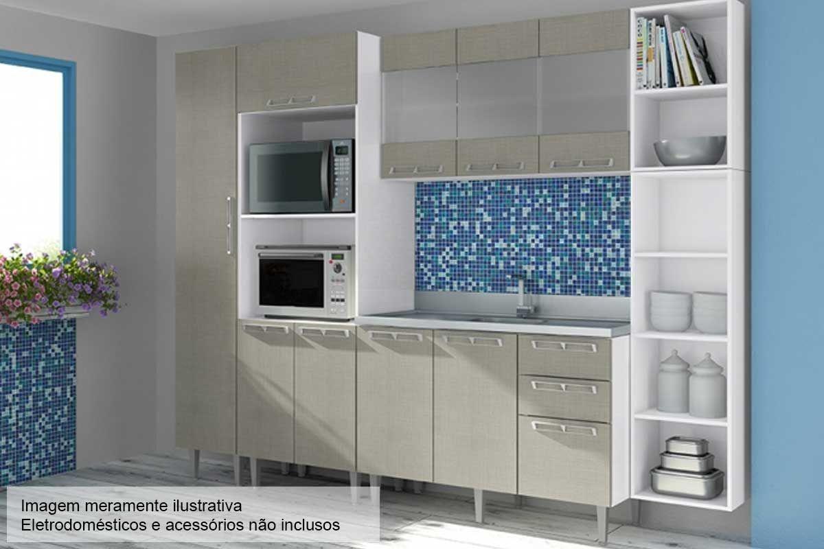 Cozinha Completa Art In Móveis Mia Coccina c/ 6 Peças CZ45 s/ Pia