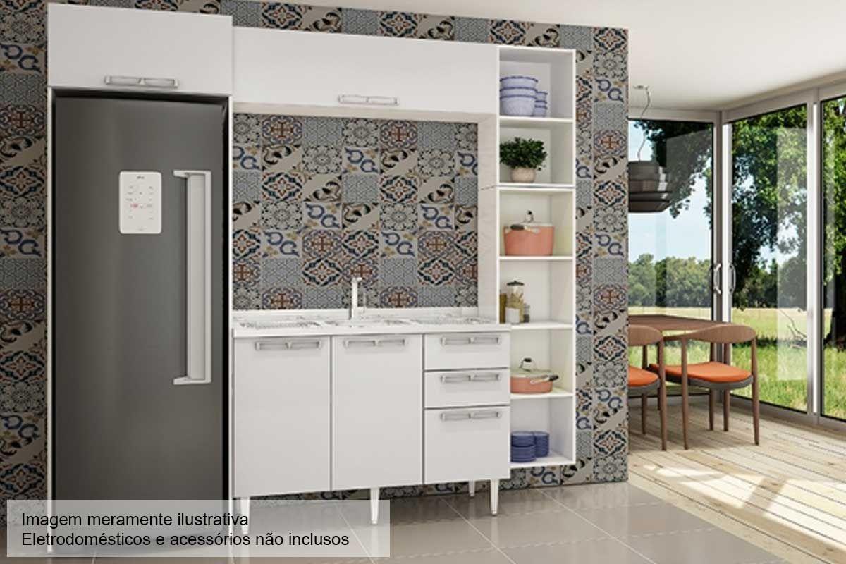 Cozinha Completa Art In Móveis Mia Coccina c/  5 Peças CZ50 s/ Pia