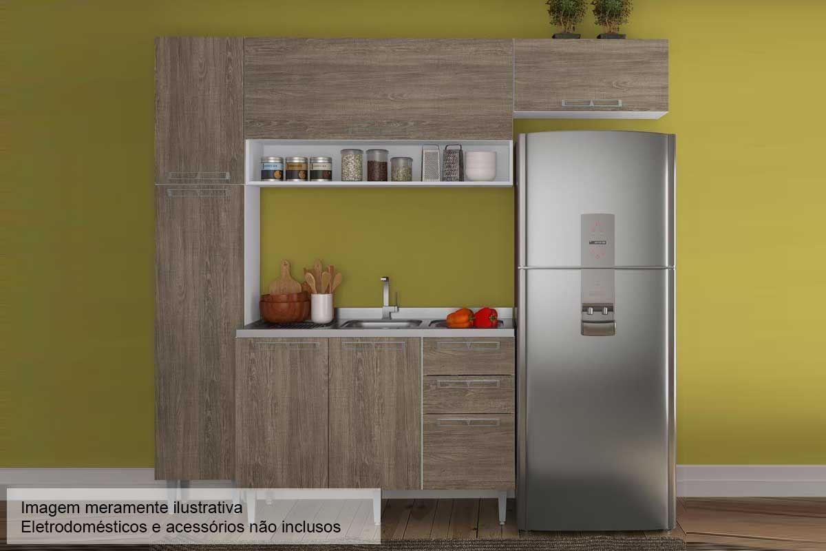 Cozinha Completa Art In Móveis Mia Coccina c/ 5 Peças CZ55 s/ Pia