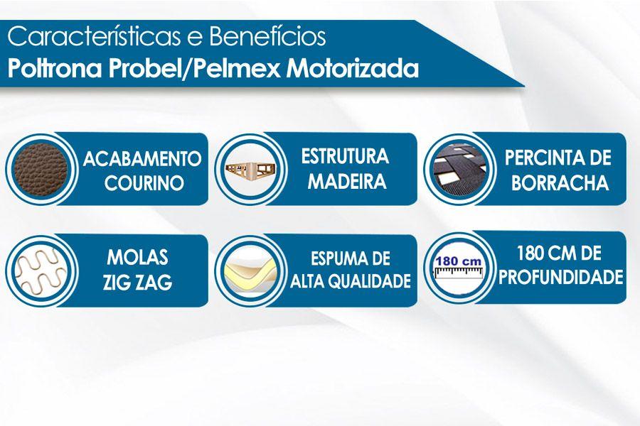 Poltrona Probel/Pelmex Golden Zero Wall Motorizada