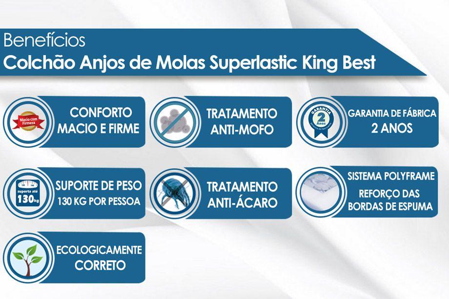 Colchão Anjos Molas Superlastic King Best