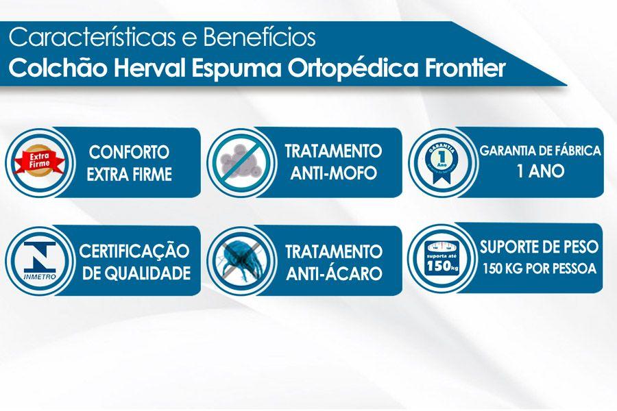 Colchão Herval Espuma Ortopédica Frontier