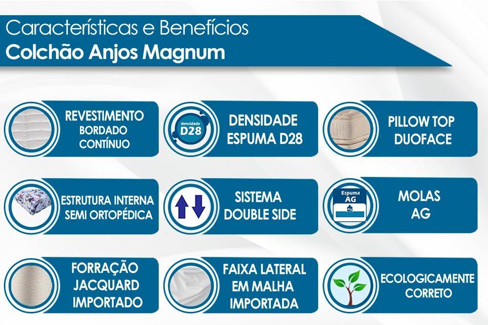 Colchão Anjos Espuma Ortopédica Magnum Pillow