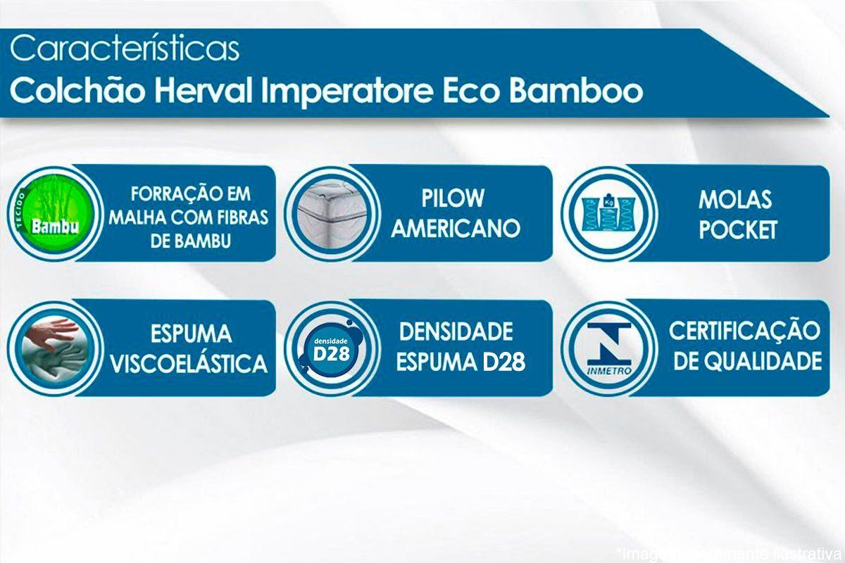 Colchão Herval Pocket Imperatore Eco Bamboo