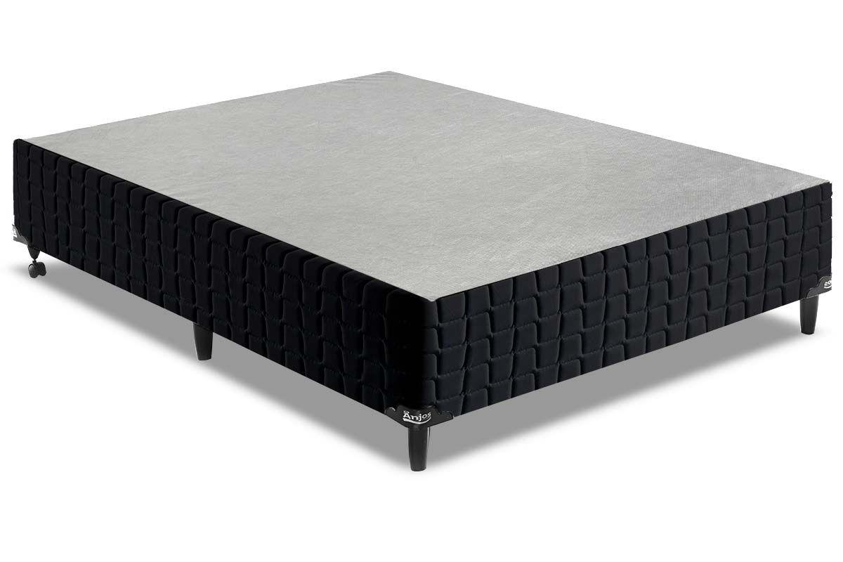 Cama Box Base Anjos Couríssimo BlackCama Box Casal - 1,38x1,88x0,25 - Sem Colchão