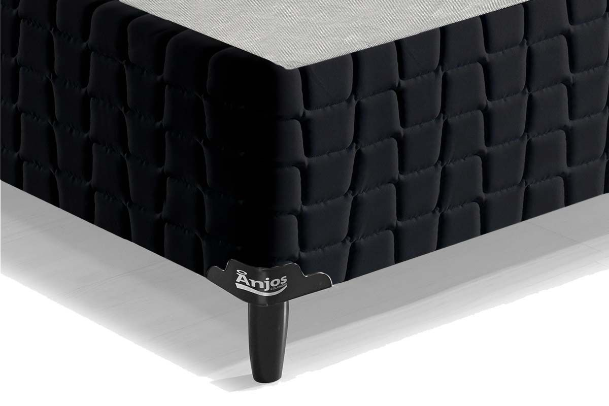 Cama Box Base Anjos Couríssimo Black