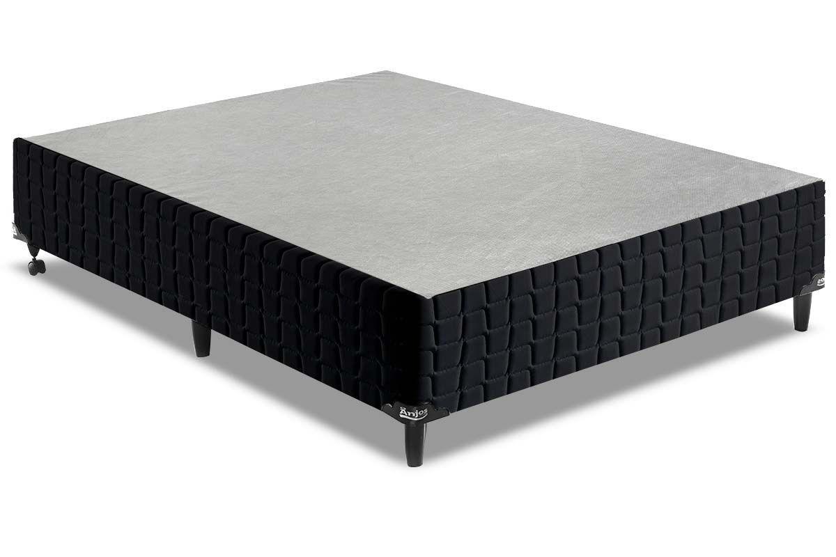 Cama Box Base Anjos Couríssimo BlackCama Box King Size - 1,93x2,03x0,25 - Sem Colchão