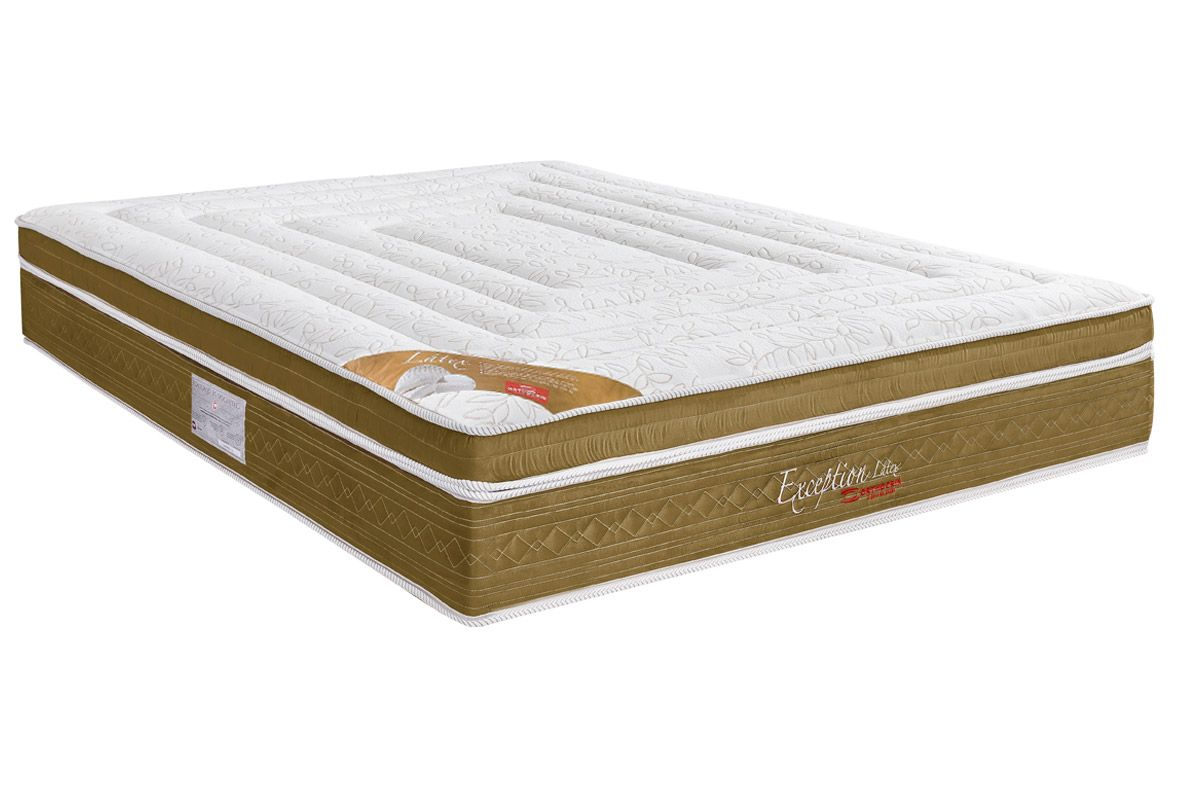 Colchão Orthocrin Molas Pocket Exception PlusColchão King Size - 1,93x2,03x0,34 - Sem Cama Box