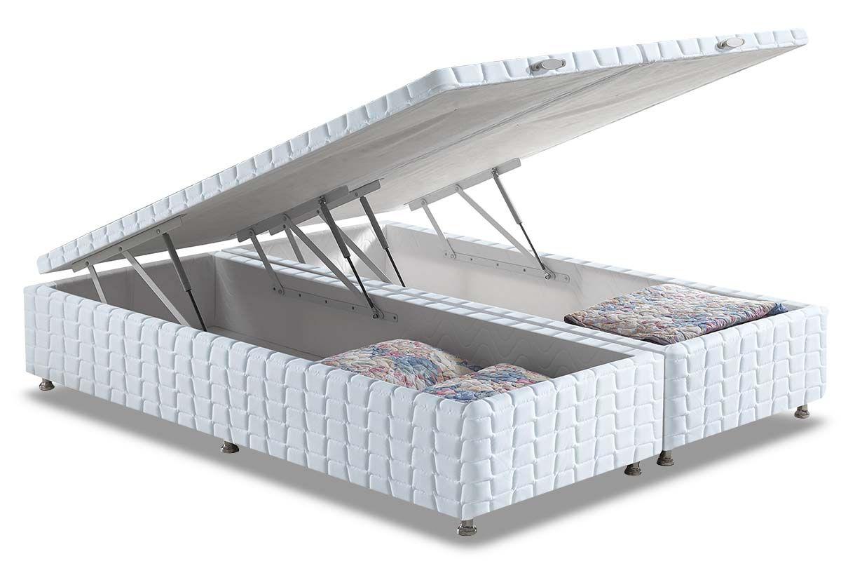 Cama Box Baú Anjos WhiteCama Box King Size - 1,93x2,03x0,35 - Sem Colchão