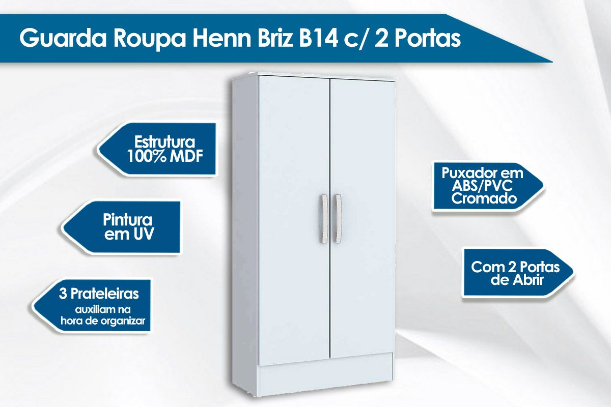 Roupeiro Henn Briz B14 2 Ptas