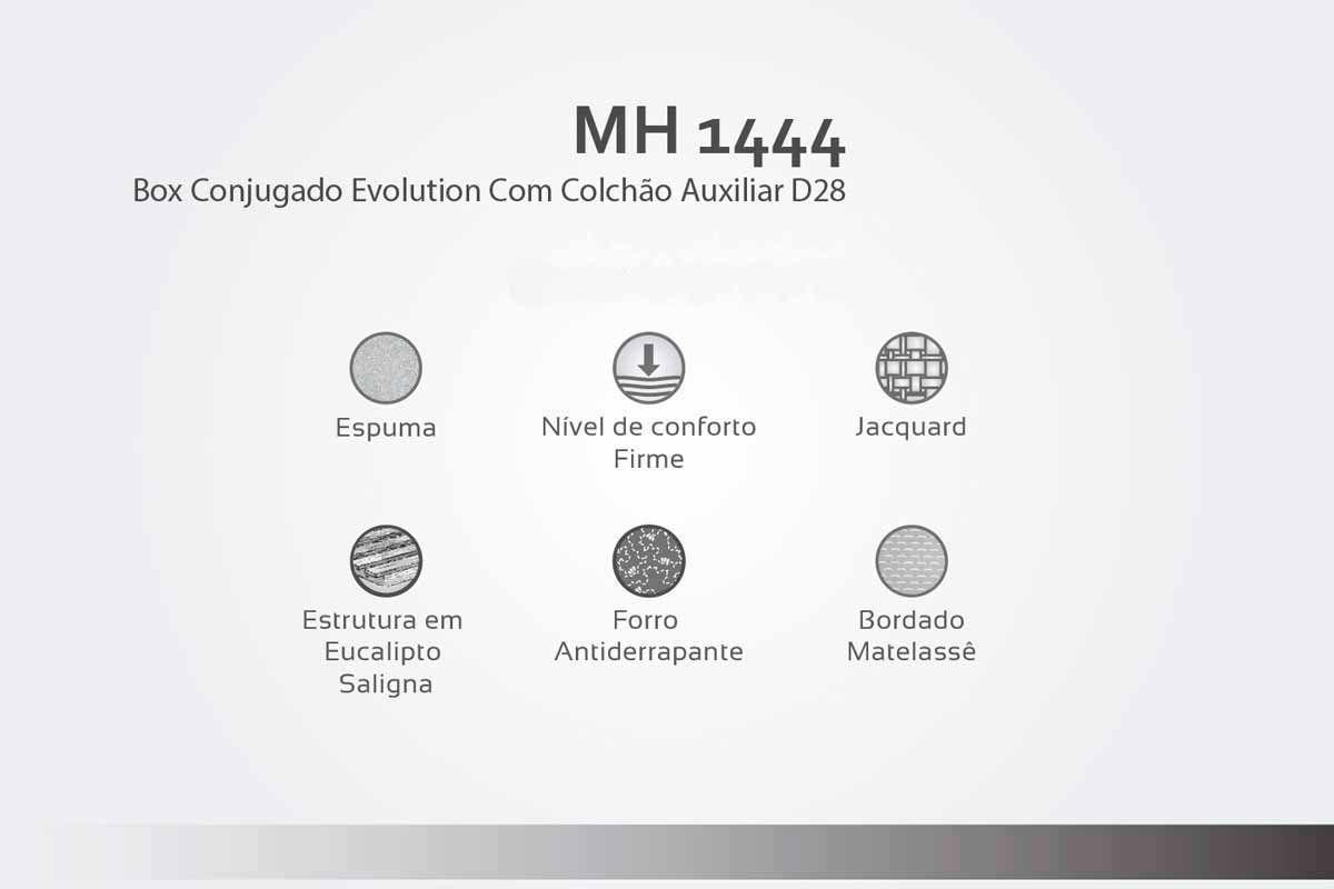 Cama Box Baú Com Auxiliar Herval Evolution