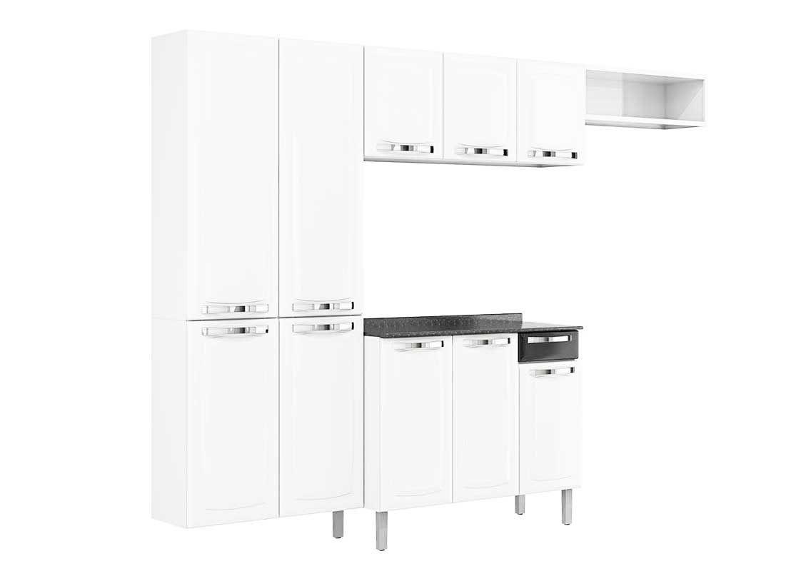 Adesivos De Parede Kombi ~ Cozinha Completa Itatiaia Rose Aço COZ C IG3G1 105 Cor Branco