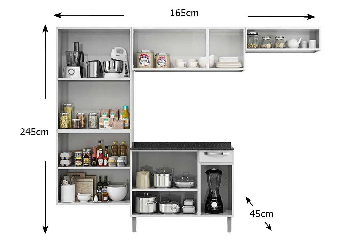 Cozinha Completa Itatiaia Rose COZ C/IG3G1 105 Aço (Paneleiro Nicho  #644739 1136 800
