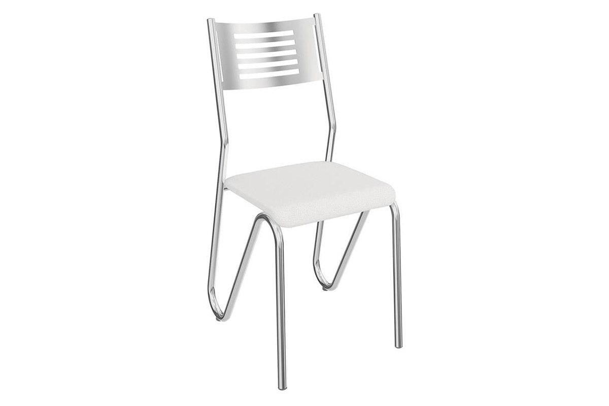 Cadeira Kappesberg Nápoles 4C045Cor Cromada  -  Assento Branco 106